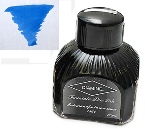Diamine Refills Washable Blue  Bottled Ink 80mL