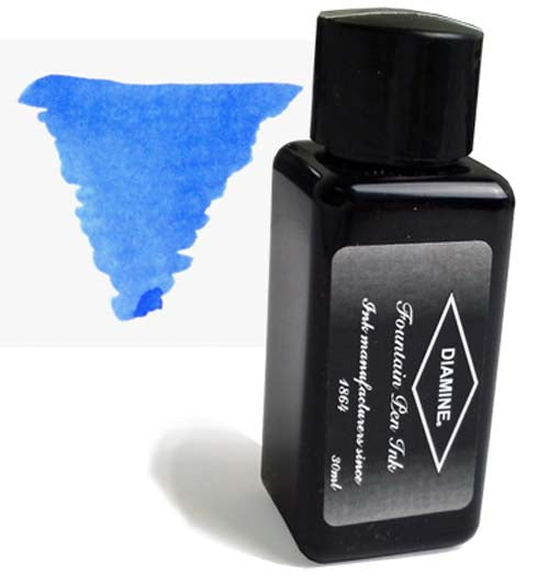 Diamine Refills China Blue 30mL  Bottled Ink
