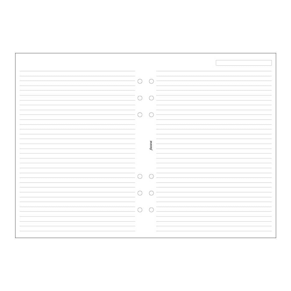 Filofax - Papers Ruled Notepaper - White - A5
