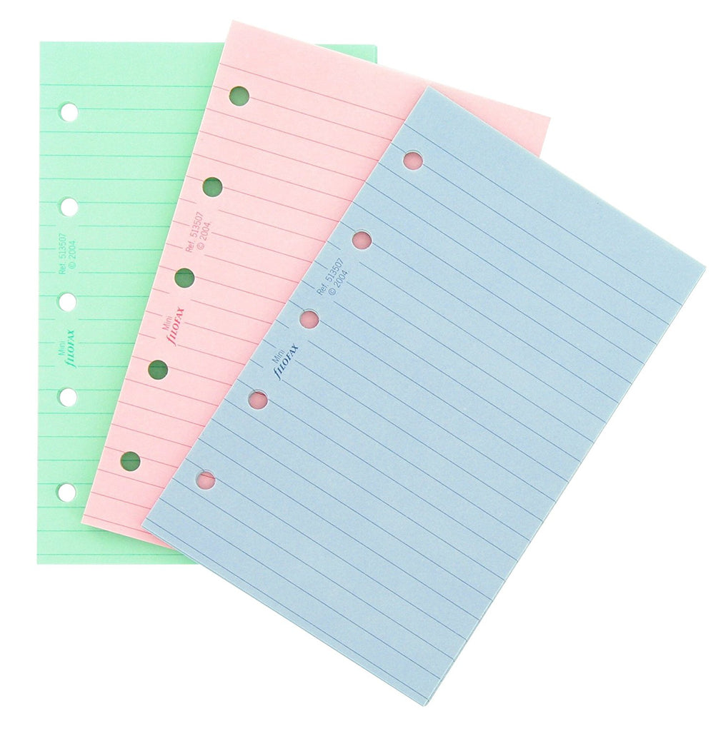 Filofax - Papers Ruled Notepaper - Fashion Colors - Mini Size