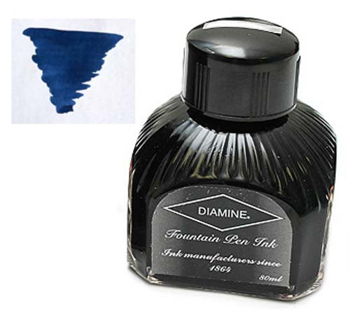 Diamine Refills Midnight  Bottled Ink 80mL