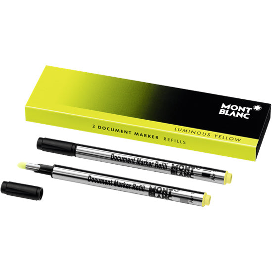 Montblanc Refills Luminous Yellow Document Marker  Rollerball Pen