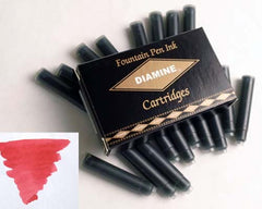 Diamine Refills Maroon Pack of 18  Fountain Pen Cartridge