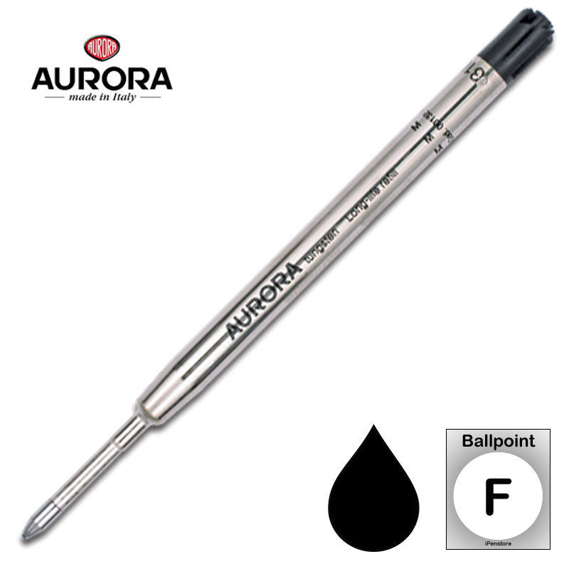 Aurora Refills - Long Life - Black - Fine Point - Ballpoint Pen