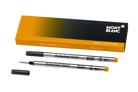 Montblanc Refills India Orange 2 Pack Medium Point Rollerball Pen