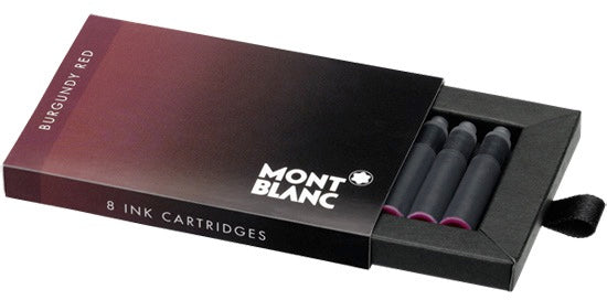 Montblanc Refills Burgundy 8 per package  Fountain Pen Cartridge