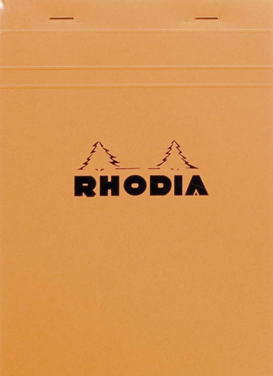 Rhodia Staplebound - Notepad - Graph - Orange - 6 x 8.25
