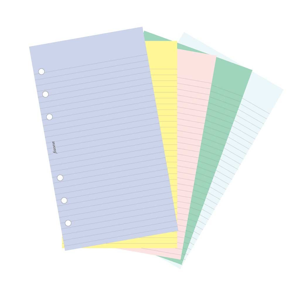 Filofax Papers 100 Plain and Ruled Notepaper, Multicolor Assortment  Personal Size