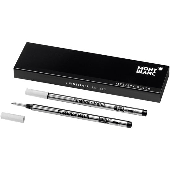 Montblanc Refills Mystery Black (2 Pack) Medium Point Fineliner