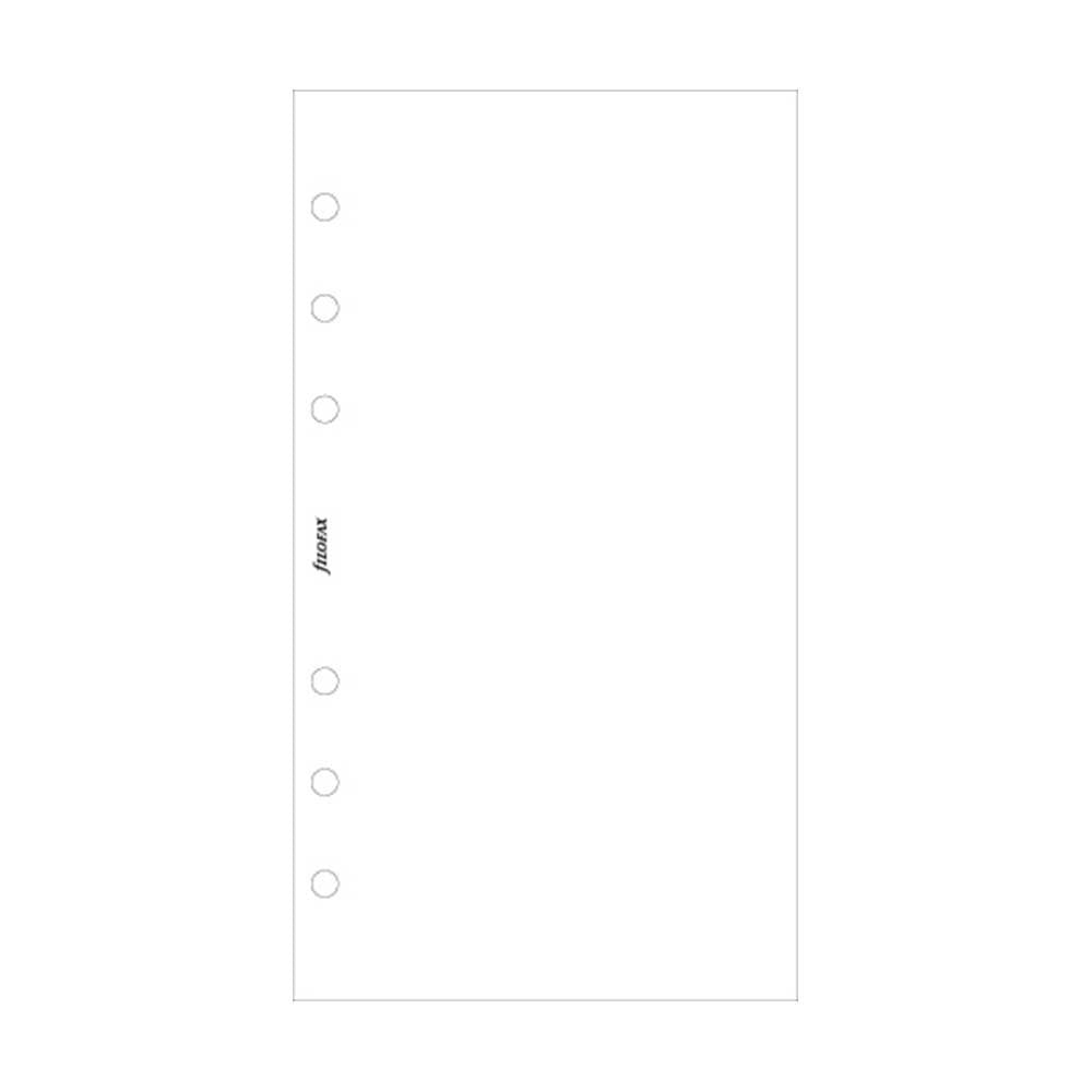 Filofax - Papers Plain Notepaper - White - Personal Size