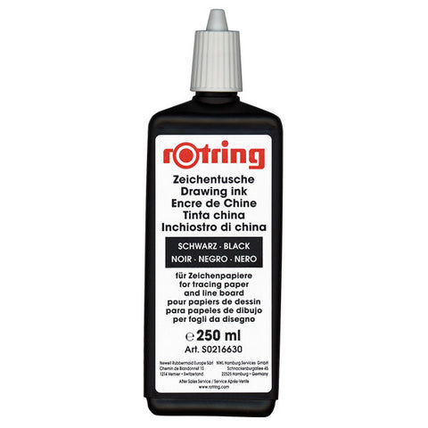 Rotring Refills - Isograph Liquid Ink 250ml - Black
