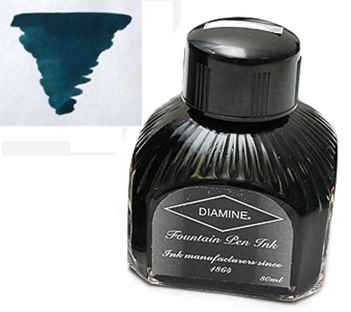 Diamine Refills Teal  Bottled Ink 80mL