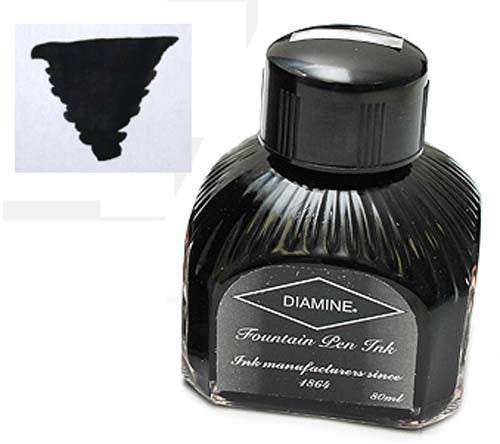 Diamine Refills Onyx Black  Bottled Ink 80mL