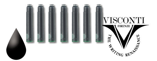 Visconti Refills Fountain Ink Cartridges - Black