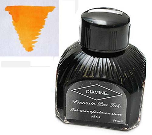 Diamine Refills Amber  Bottled Ink 80mL