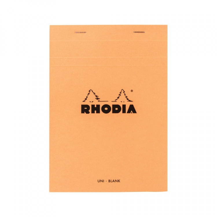 Rhodia Staplebound - Notepad - Orange - Blank - 6 x 8.25