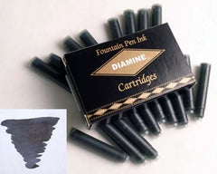 Diamine Refills Jet Black Pack of 18  Fountain Pen Cartridge