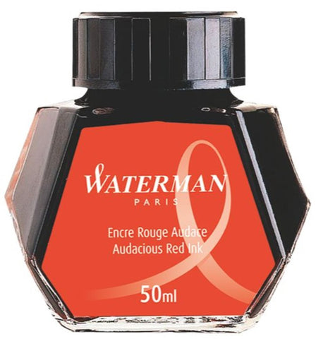Waterman Fountain Pen Bottled Ink - Audacious Red