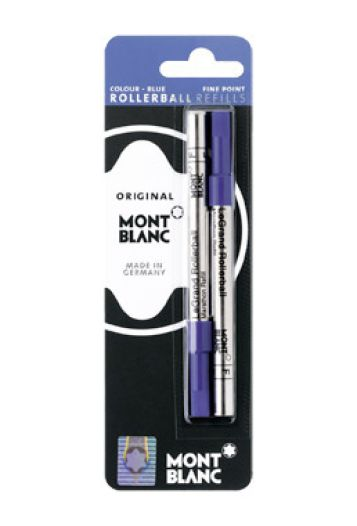 Montblanc Refills LeGrand Blue 2 Pack Fine Point Rollerball Pen