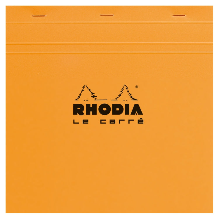 Rhodia Staplebound - Notepad - Orange - Graph - Le Carré - 8.25 x 8.25