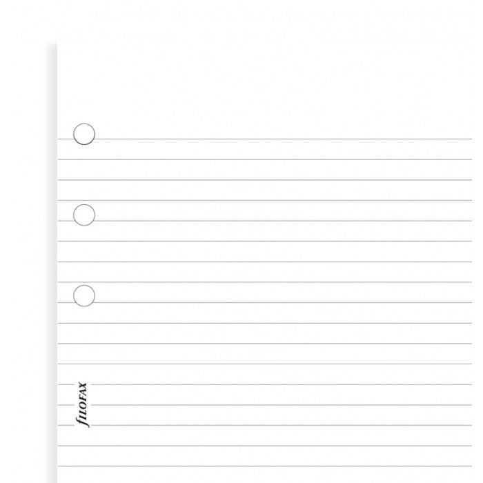 Filofax - Papers Ruled Notepaper - White - 100 Pack - Pocket Size