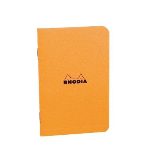 RHODIA NOTEBKS STAPLE BND GRAPH ORANGE 3 X 4 3-4