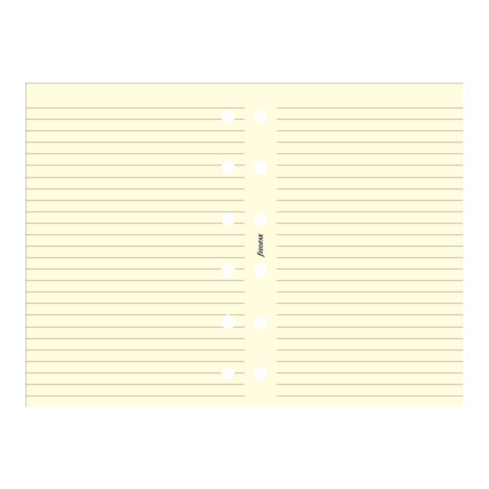 Filofax - Papers Ruled Notepaper - Cotton Cream - Pocket Size