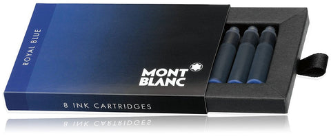 Montblanc Refills Royal Blue 8 per package  Fountain Pen Cartridge