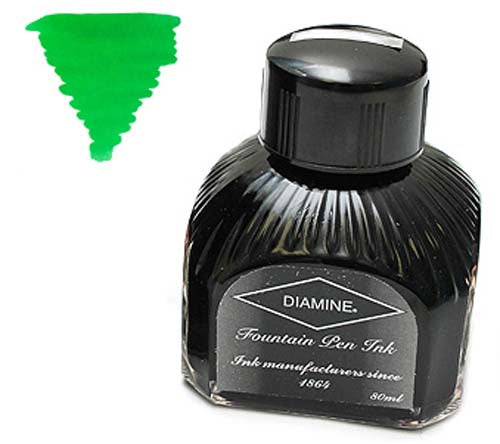 Diamine Refills Apple glory  Bottled Ink 80mL
