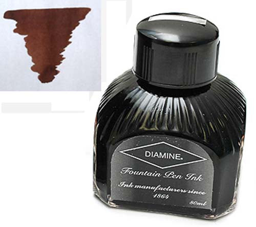 Diamine Refills Saddle Brown  Bottled Ink 80mL