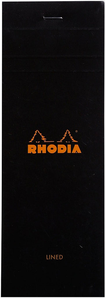 Rhodia Staplebound - Notepad - Black - Lined - 3 x 8.25