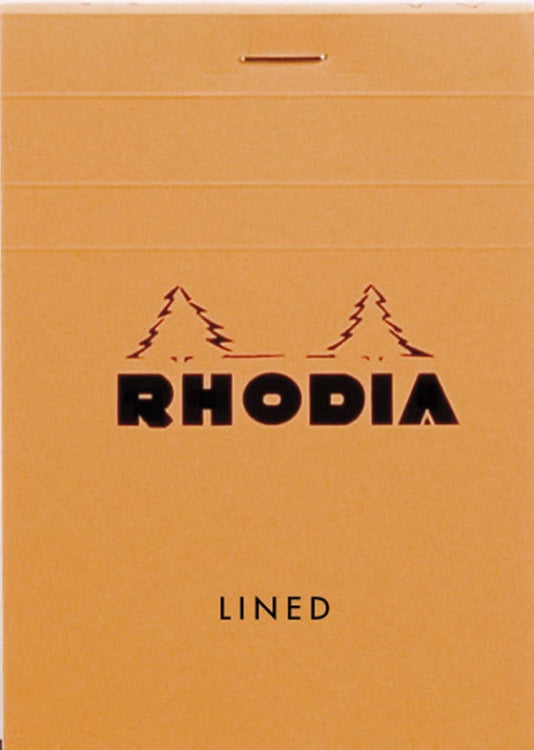 Rhodia Staplebound - Notepad - Orange - Lined - 3.375 x 4.75