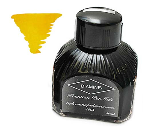 Diamine Refills Yellow  Bottled Ink 80mL