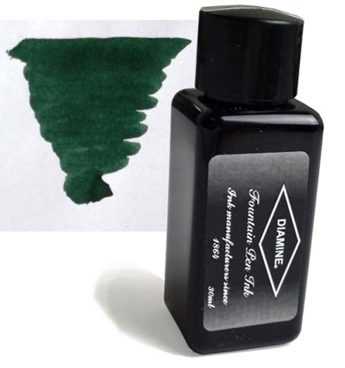 Diamine Refills Green / Black 30mL  Bottled Ink