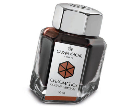 Caran D'ache - Fountain Pen Refills - Chromatics Bottled Ink - Brown