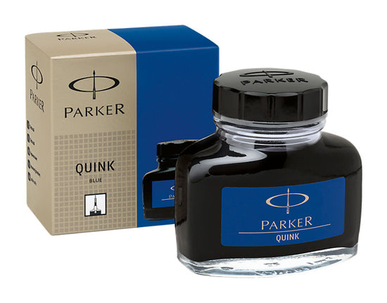 Parker Refills Quink Blue Black 2 oz  Bottled Ink