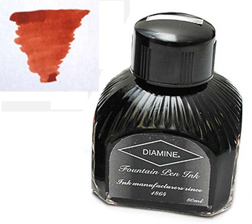 Diamine Refills Burnt Sienna  Bottled Ink 80mL