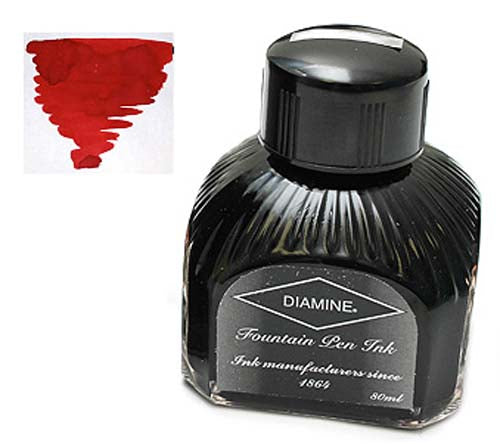 Diamine Refills Red Dragon  Bottled Ink 80mL
