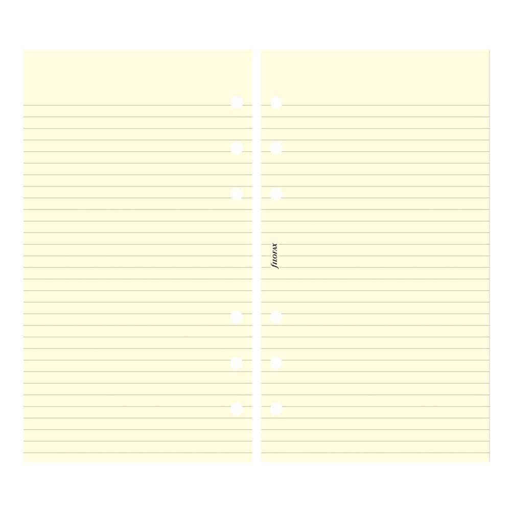 Filofax - Papers Ruled Notepaper - Cotton Cream - Personal Size