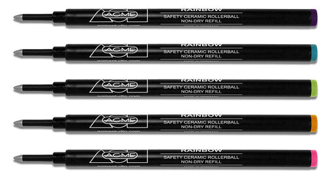 Acme Refills - 888 Rainbow Rollerball Refills 5-Pack, PREFRBOWBOX