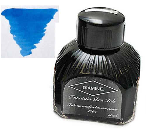Diamine Refills Presidential Blue  Bottled Ink 80mL