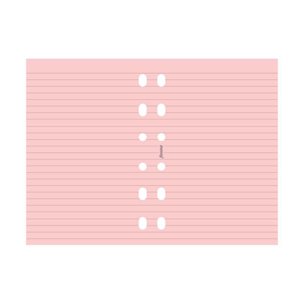 Filofax - Ruled Notepaper - Pocket Size - Pink