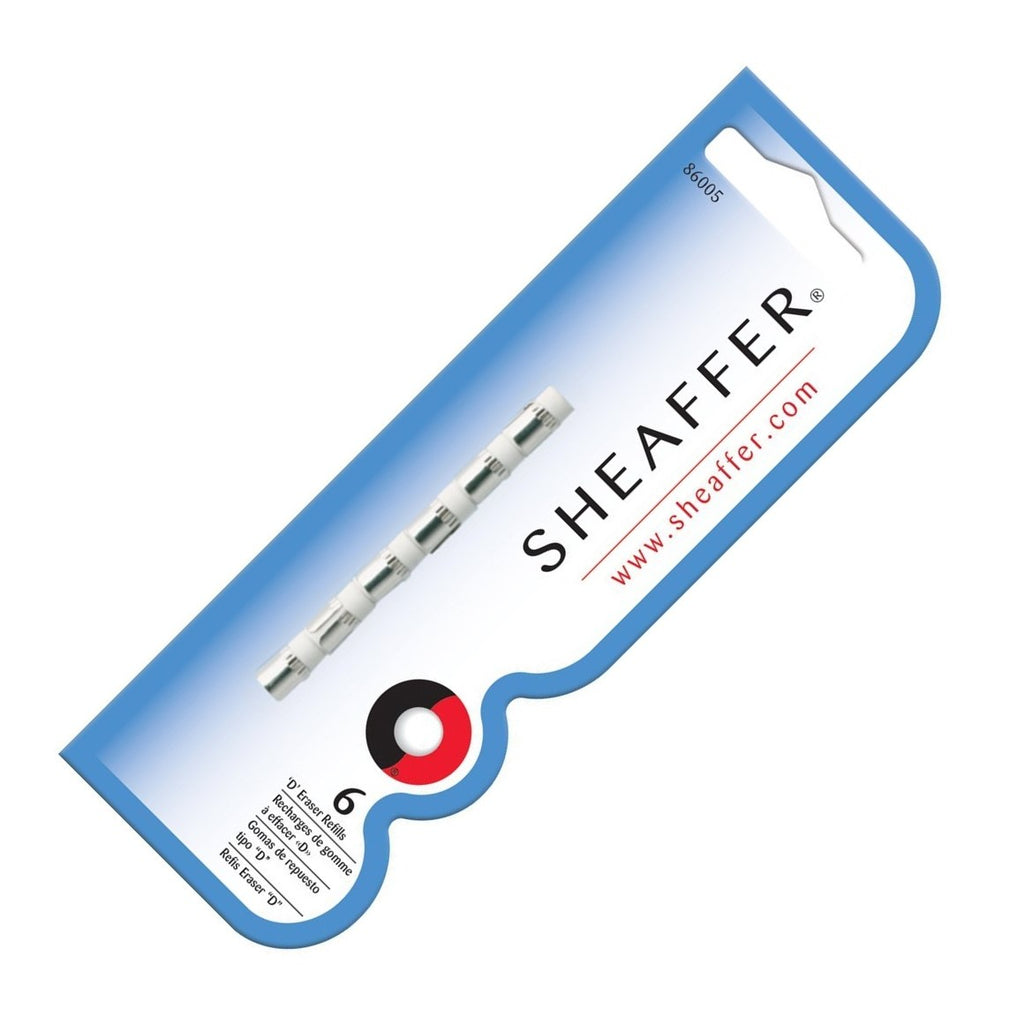 "Sheaffer .7mm Pencil Erasers Type ""D"" Refill - Pack of 6"