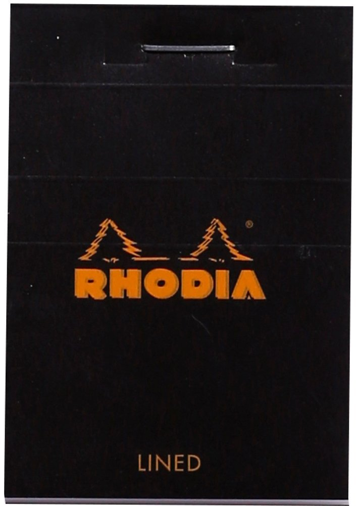 Rhodia Staplebound - Notepad - Lined - Black - 2 x 3