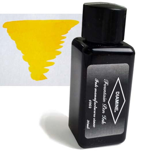 Diamine Refills Yellow 30mL  Bottled Ink