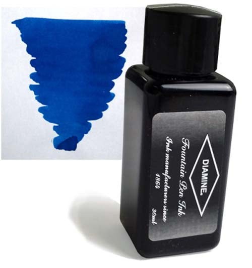 Diamine Refills Kensington Blue 30mL  Bottled Ink