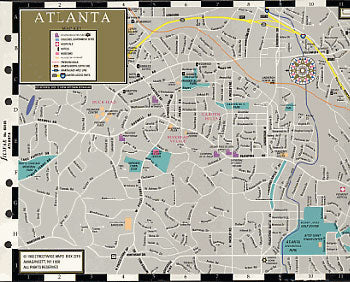 Filofax Papers Atlanta Map  Personal Size