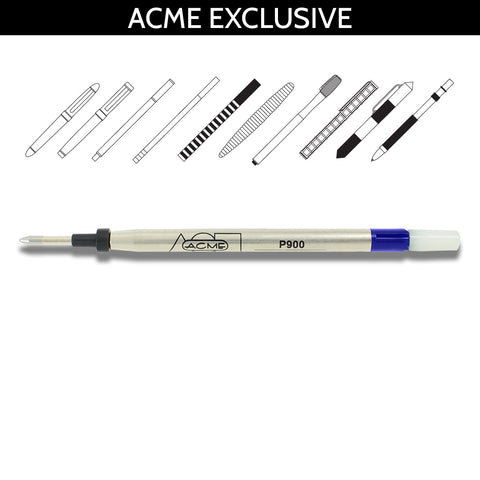 Acme Refills Blue P900 Ballpoint Pen Refill with Adapter