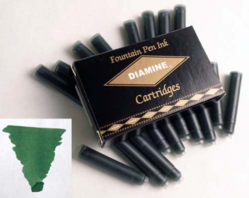 Diamine Refills Emerald Pack of 18  Fountain Pen Cartridge
