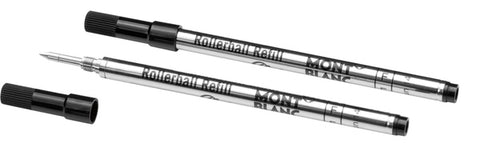Montblanc Mystery Black 2 Pack Fine Point Rollerball Pen Refills